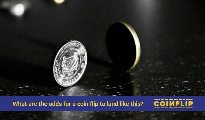 What are the odds for a coin to land on it's side