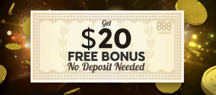 Get $20 free bonus at 888 Casino if you live in New Jersey