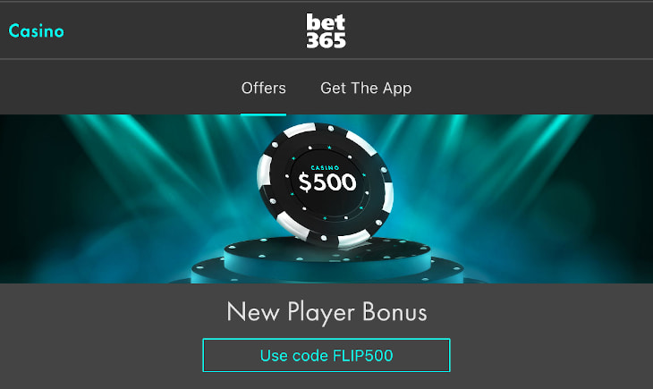 Bet365 casino welcome bonus