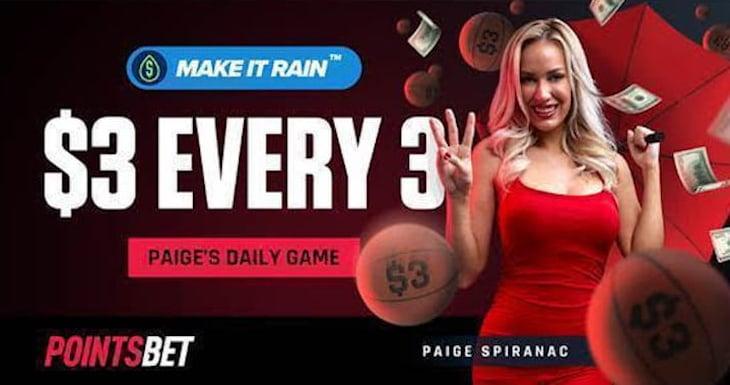 Paige Spiranac Hot PointsBet brand ambassador