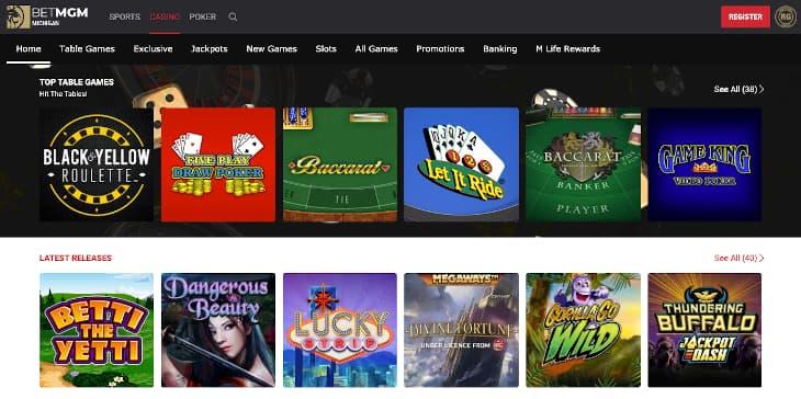 BetMGM MI casino review