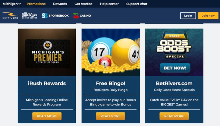 BetRivers casino promotions in Michigan