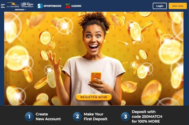 BetRivers welcome bonus in Michigan