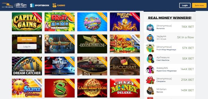 BetRivers MI casino review