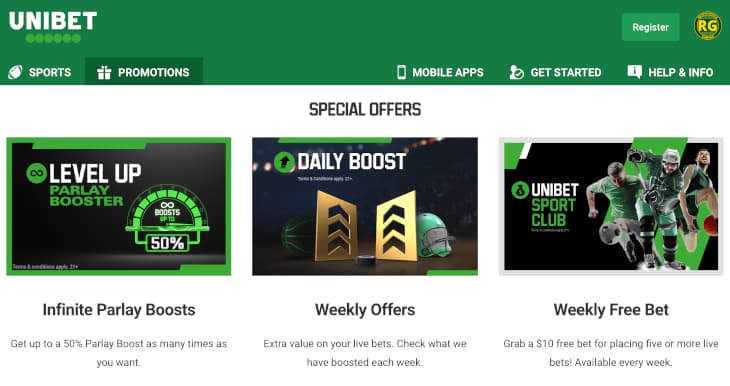 Ongoing promotions at Unibet Iowa